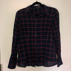 The Limited Blue/Red Flannel Size M